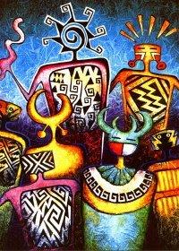 "Схема вышивки  ""Африка "": таблица цветов."