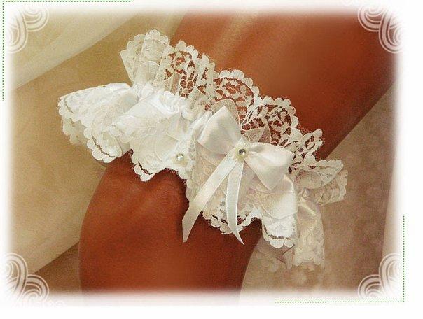 Как сшить подвязку для невесты своими руками фото