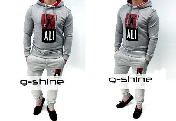 Мужской спортивный костюм Dolce Gabbana Ali серого цвета из модельного...
