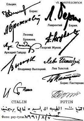 Как по подписи определить характер