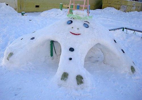 Снежные фигуры своими руками в детском саду фото