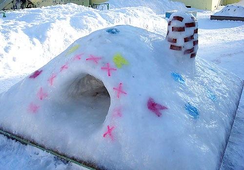 Снежные домики своими руками