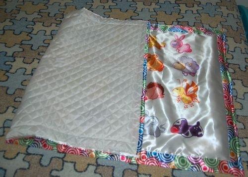 установка как пришивать оборку к детскому одеялку наоборот