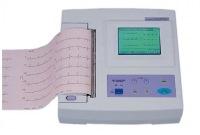 графическая запись электрических потенциалов, сопровождающих работу сердца, на движущейся бумажной ленте.