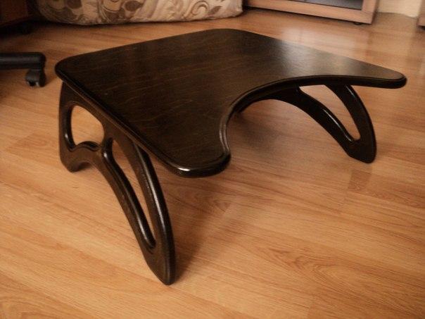 Столик для ноутбука из фанеры своими руками
