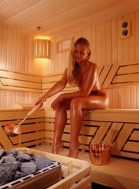 Девочки голые в сауне