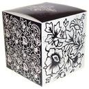 Подарочная коробка для кружек с черно-белым рисунком.  Артикул 217.