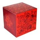 Подарочная коробка для кружек с красным рисунком.  Артикул 261.