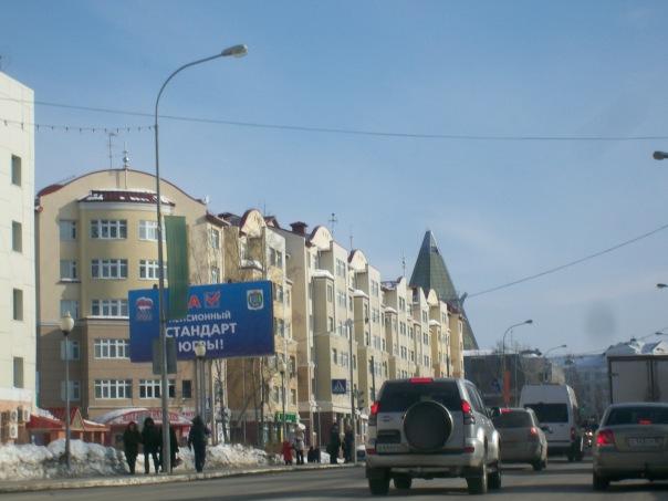 По дороге во дворец зимних видов спорта им. Филипенко.