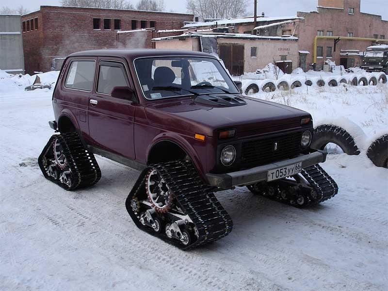 Снегоходы на колесах своими руками