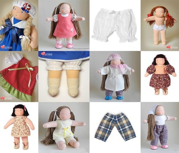 выкройка одежды для куклы 58 см.