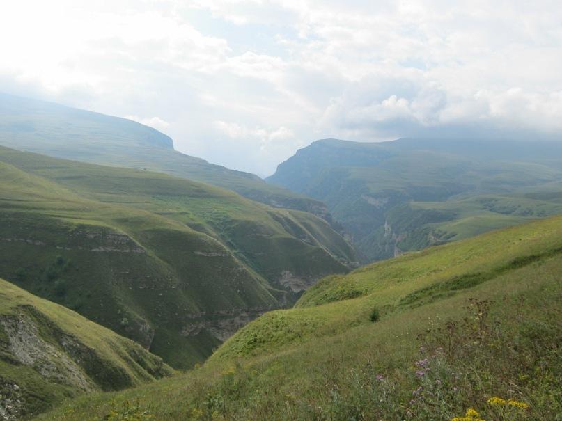 Каньоны в горах Чечни