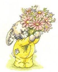 Вышитые картины, изделия из бисера и бусин, вязанные изделия, купить вышивку Somebunny to love, вышивка зайчиков...