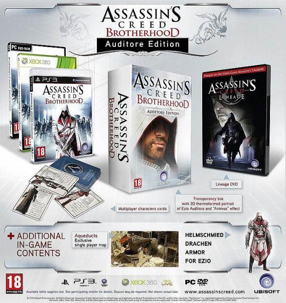 Assassins Creed Братство Крови Auditore Edition (Brotherhood) xBox 360. Ad