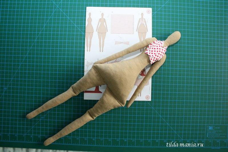Как сшить многослойную юбку для куклы тильда 81