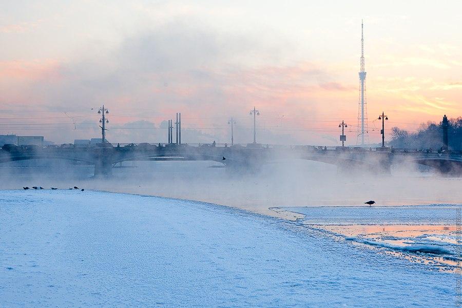 Зимний Петербург Большая Невка