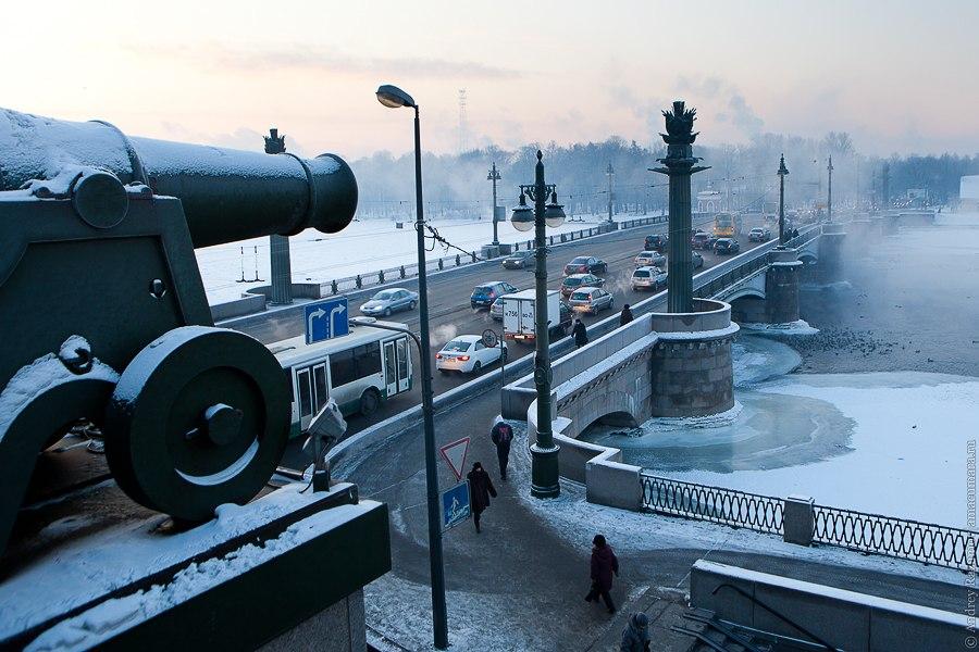 Зимний Петербург Ушаковский мост