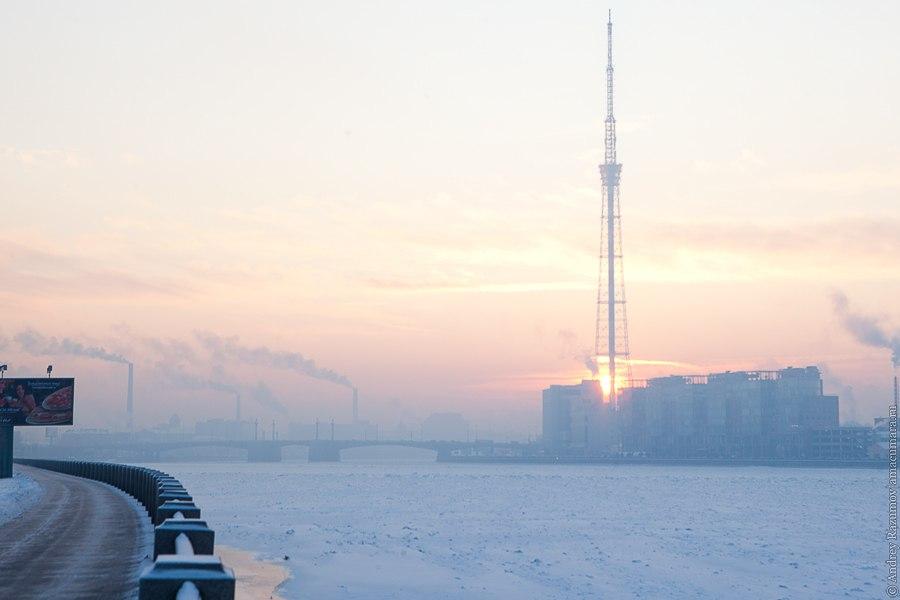 Зимний Петербург Ушаковская набережная