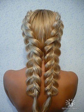 Все это Вы увидите на наших фото - плетение косы.