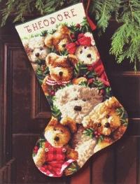 """Схема вышивки  """"Новогодний сапожок """": таблица цветов."""