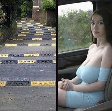 Великі груди в машині фото