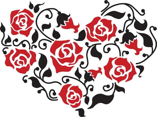 """Предпросмотр схемы вышивки  """"розы """". розы, цветы, 3 цвета, предпросмотр."""