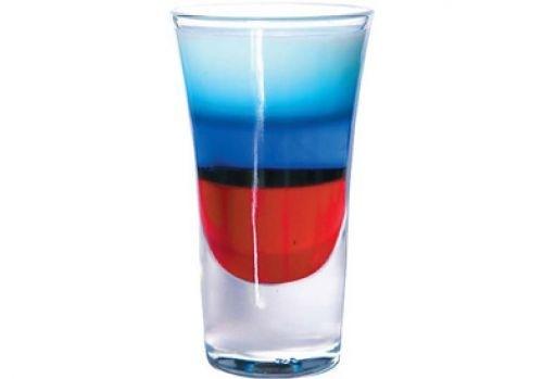 """Голосуй за Чебоксары. коктейль  """"Российский флаг """" Белый цвет - водка с..."""