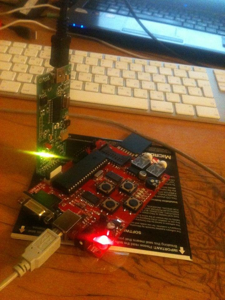 Создаем USB Mass Storage Device(флешка) на PIC18F4550 с аппаратным шифрованием(опционально-маскированием)