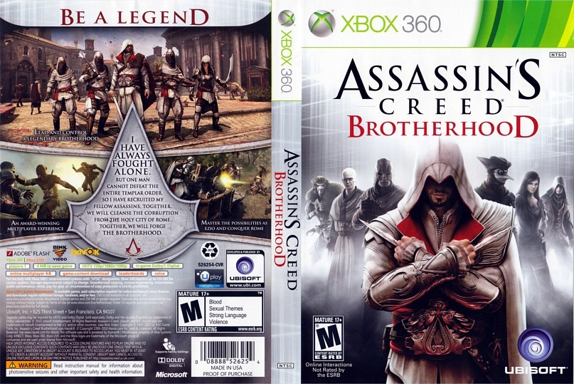 Assassins,s Creed: Братство Крови, рассказывающая историю мастера.