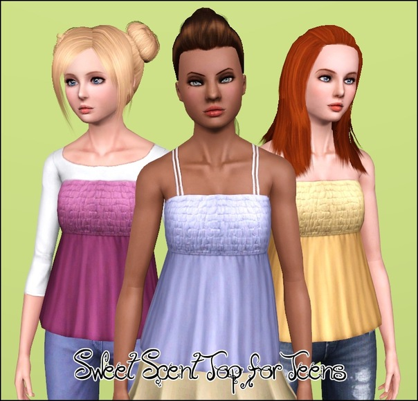 Sweet Scent Tops ~ Three Styles, for Teen-to-Adult by Anubis360