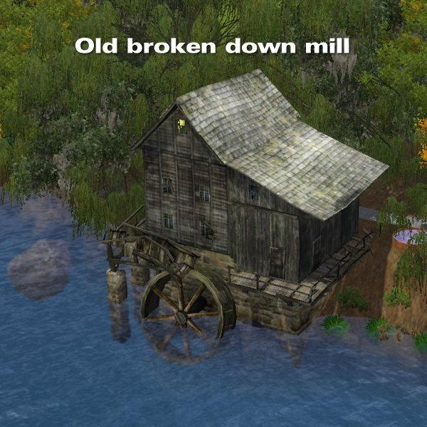 Old broken down mill by CFP