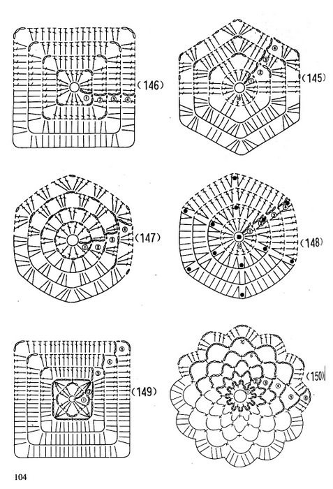 Простые схемы вязания крючком для начинающих распечатать