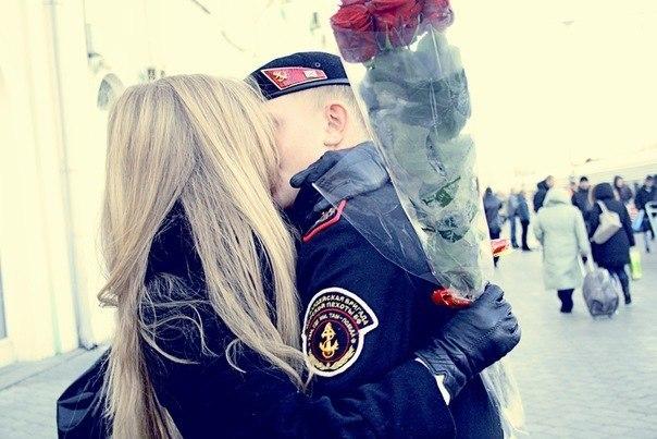 солдат и девушка картинки