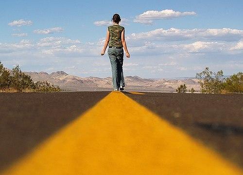 Дорога манит за собой.  Ручные клади, саквояжи.  Мелькают в такт передо...