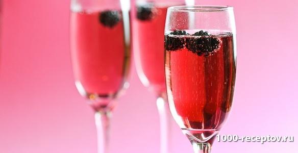 Коктейль с шампанским Кир Рояль Рецепт коктейля с шампанским Кир Рояль...