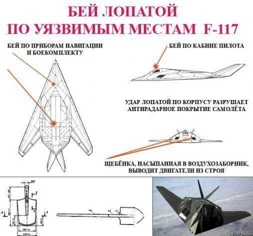 Уязвимые места F-117
