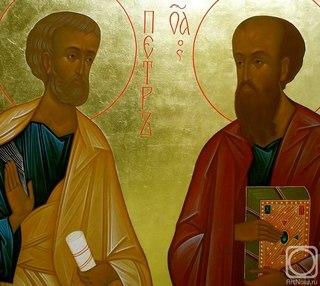 Икона апостолов Петра и Павла.  Григорьев Владимир.