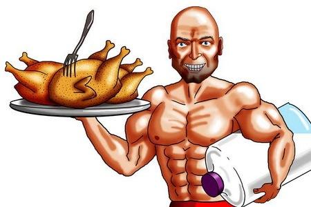 Для наращивания мышечной массы, вам надо не только тренироваться, но и...