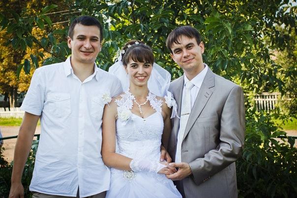 Свадьба Олега. Со счастливым женихом и невестой.