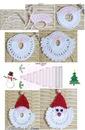 Прихватка крючком схема фото Дед Мороз новый год.