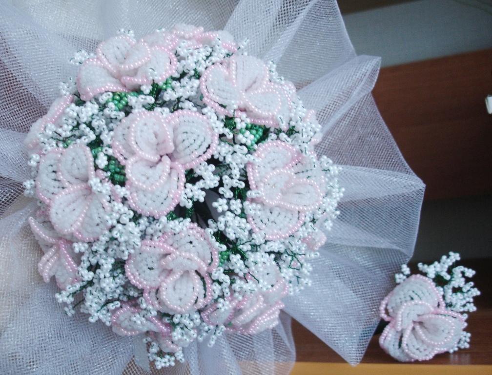 Букет невесты из бисера своими руками