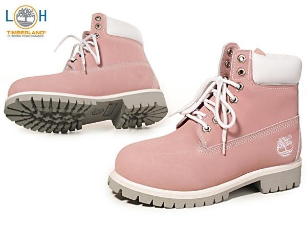 Timberland Women's 6-Inch Premium Waterproof Boot Pink.
