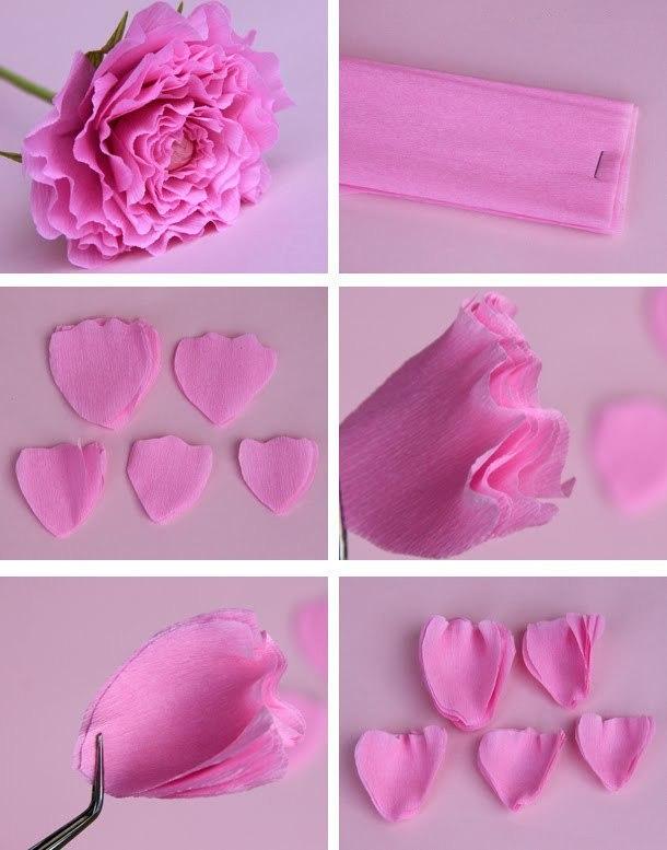 Бумажные цветы своими руками креп бумаги