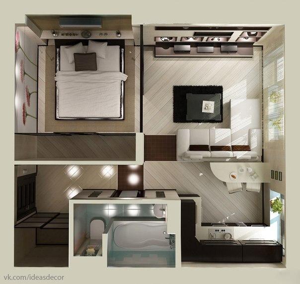 Дизайн малометражных квартир фото