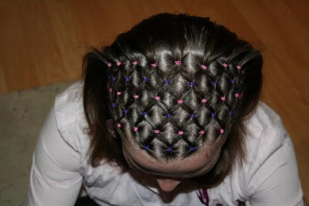 Как из волос сделать сеточку 183