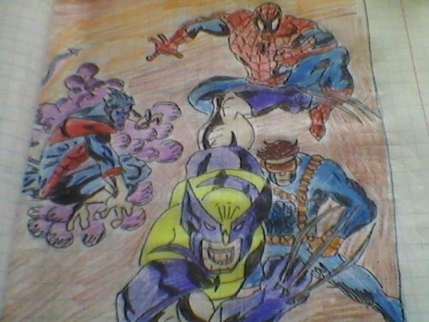 рисунки супергероев:
