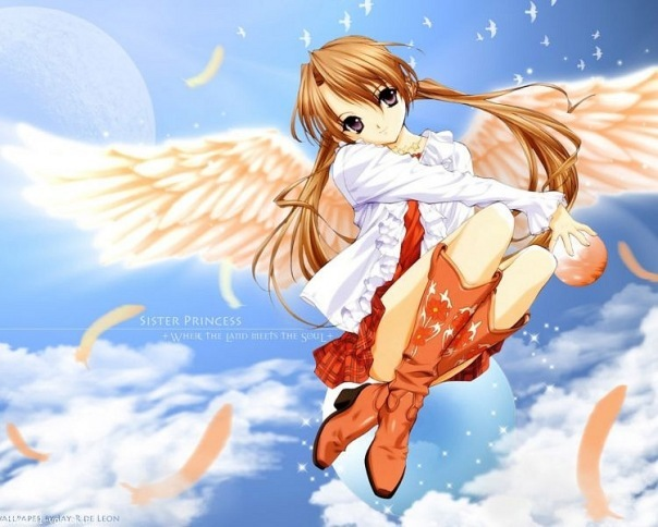 Картинки ангелов и демонов девушек с крыльями