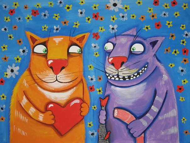 Коти, любов, українські статуси