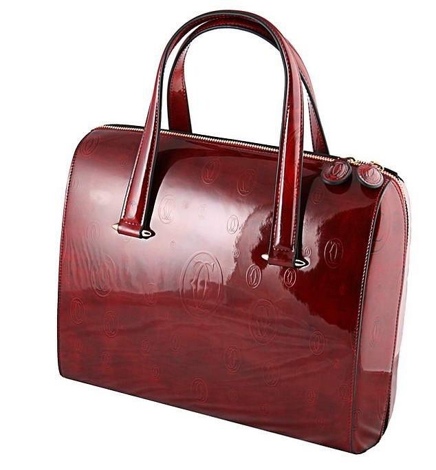 Красная женская сумкa Cartier.  Артикул:Cartier 6000706 B...