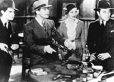 ...картину 30-х годов, которую продюсировал Говард Хьюз, и его появление...